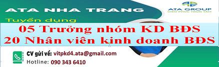 ATA Nha Trang tuyển dụng