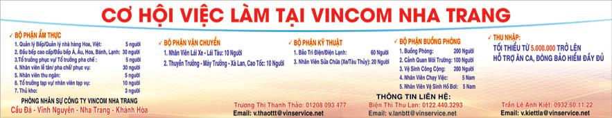 Tập đoàn Vincom tuyển dụng